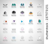 hotel icons set   isolated on... | Shutterstock .eps vector #237573151