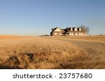 House And Brown Fields Near...