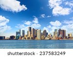 Stock photo boston downtown skyline massachusetts usa 237583249