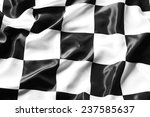 checkered black and white flag... | Shutterstock . vector #237585637