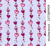 seamless pattern with hearts on ... | Shutterstock .eps vector #237589909