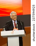 Small photo of MOSCOW, RUSSIA, JUNE, 16: Abdalla Salem El-Badri, Secretary General of OPEC. 21st World Petroleum Congress, June, 16, 2014 at Crocus Expo in Moscow, Russia