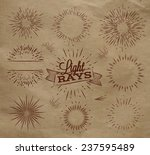 set light ray in vintage style... | Shutterstock .eps vector #237595489