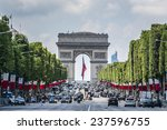paris  france   july 14  2014 ... | Shutterstock . vector #237596755