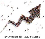large group of people gathered... | Shutterstock . vector #237596851