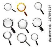 magnifying glass set. vector | Shutterstock .eps vector #237599389