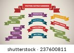 vintage ribbons for marketing... | Shutterstock .eps vector #237600811