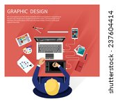 concept for graphic design ... | Shutterstock .eps vector #237604414