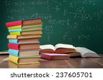 books on the background of the... | Shutterstock . vector #237605701