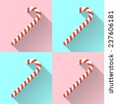 christmas candy canes on color...
