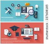 flat design concept of program... | Shutterstock .eps vector #237608185