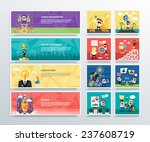 set of business banners of... | Shutterstock .eps vector #237608719