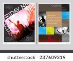 magazine layout design. vector...   Shutterstock .eps vector #237609319
