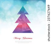 colorful christmas tree | Shutterstock .eps vector #237627649