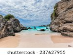 landscape of ocean  rock and...