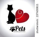 pets design over white... | Shutterstock .eps vector #237630811