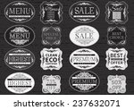 vintage labels. vector set  of... | Shutterstock .eps vector #237632071