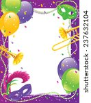 mardi gras party frame | Shutterstock .eps vector #237632104
