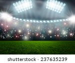 soccer ball on green stadium... | Shutterstock . vector #237635239
