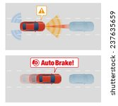 auto brake system of vehicle.... | Shutterstock .eps vector #237635659