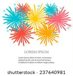 festive background with holiday ... | Shutterstock .eps vector #237640981