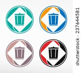colorful recycle garbage can  ... | Shutterstock .eps vector #237644581
