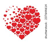 red vector hearts | Shutterstock .eps vector #237644614