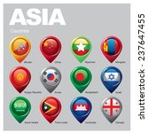 asia countries   part  six | Shutterstock .eps vector #237647455