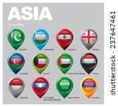 asia countries   part  seven | Shutterstock .eps vector #237647461