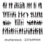 silhouettes of successful... | Shutterstock . vector #237649444