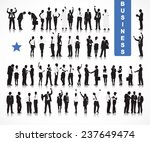 silhouettes of business people... | Shutterstock .eps vector #237649474