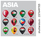 asia countries   part  four | Shutterstock .eps vector #237649705