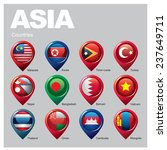 asia countries   part  five | Shutterstock .eps vector #237649711