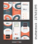 tri fold brochure and catalog... | Shutterstock .eps vector #237651595