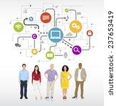 multiethnic group of people... | Shutterstock .eps vector #237653419
