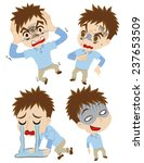 set of the shocked young men | Shutterstock .eps vector #237653509