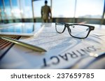 business contract with pen ... | Shutterstock . vector #237659785