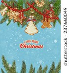 christmas decoration branches... | Shutterstock . vector #237660049