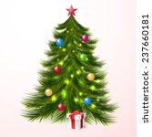christmas tree and gifts... | Shutterstock .eps vector #237660181