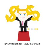 achieve a goal  making a lot of ... | Shutterstock .eps vector #237664435