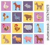 farm animals livestock and pets ... | Shutterstock . vector #237674575