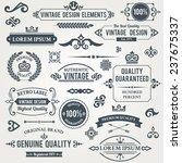vintage design elements frames... | Shutterstock . vector #237675337