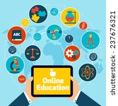 online education concept with... | Shutterstock . vector #237676321