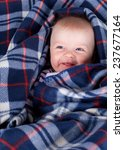 cute boy smiling in soft plaid | Shutterstock . vector #237677164
