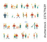 family figures flat icons set... | Shutterstock . vector #237679639