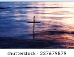symbol of baptism  a wooden... | Shutterstock . vector #237679879