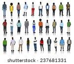 silhouettes of casual people in ... | Shutterstock .eps vector #237681331