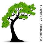 decorative green tree...   Shutterstock . vector #237683641