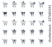shopping cart icons black e... | Shutterstock . vector #237684241