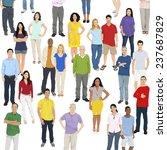 illustration of multiethnic... | Shutterstock .eps vector #237687829